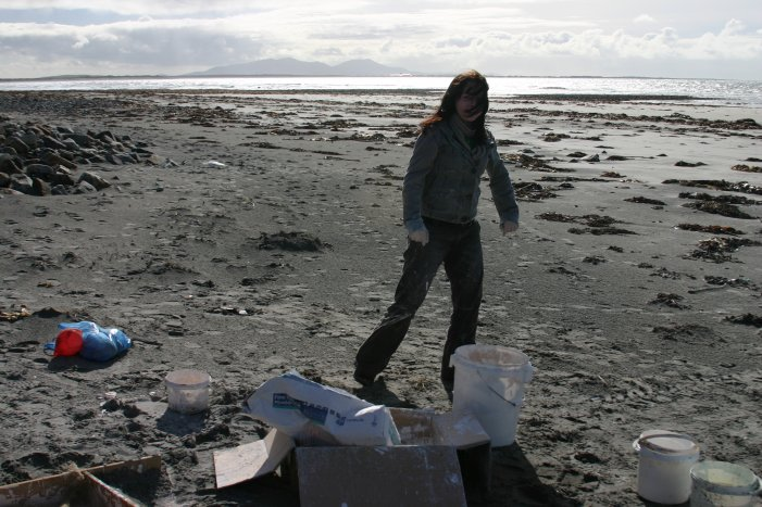 Sculpting on the Beach; North Uist