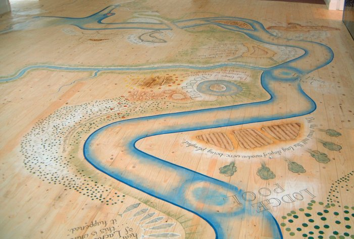 Dunbeath Heritage Centre, Caithness; Painted Floor Map