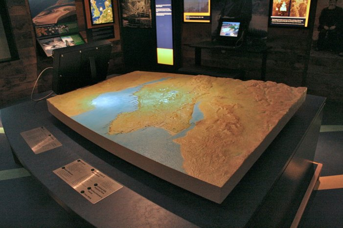 Relief Map of Fife; Dysart Harbourmaster's House