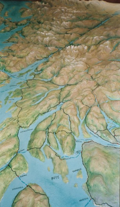 Relief Map of the West of Scotland
